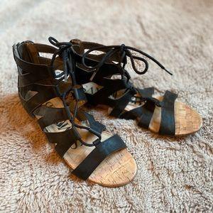 Sam & Libby Black Strappy Gladiator Sandals